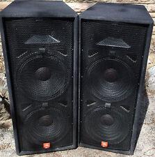 JBL JRX 125 DUAL15 in     2 way Speakers  ( MAINS ) READY TO ROCK !   (Pair)