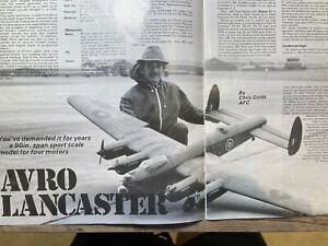 "Chris Golds Avro Lancaster 90"" Foam Short Kit Plans & Vac Formed Canopies"