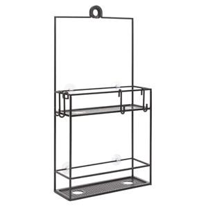Cubiko Shower Caddy Black Hanging 24 Inch Steel Bathroom Rack Storage Organizer