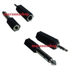 2 Adattatori Audio Stereo Adattatore Jack 6,3 Mm 3,5 Mm Maschio Femmina Casa 886