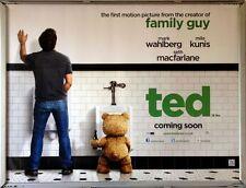 Cinema Poster: TED 2012 (Quad) Mark Wahlberg Mila Kunis Seth MacFarlane
