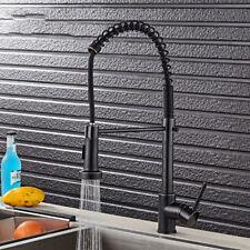 Black Kitchen Sink Pull Down Spray Mixer Swivel Spout Faucet Single Handle Taps6