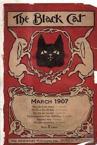 1907 Black Cat March-House that Jill Built; Tulip; Little Brown Bird - very rare