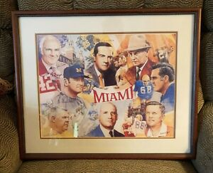 Cradle of Coaches Framed Art Gary Thomas Legacy of Excellence Collectibe Gem