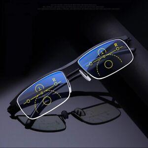 Intelligent progressive reading glasses near and dual-use Anti-Blue Light automa