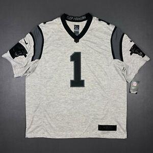 100% Authentic Carolina Panthers Cam Newton Nike Limited Jersey Size 2XL 52 Mens