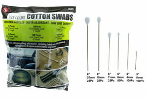 325pc Cotton Swabs Swab Long Wood Wooden Handle Cleaning Applicators,New