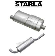 Volvo 740 760 940 B230FT Engine Pair Set Of Front & Rear Exhaust Mufflers Starla