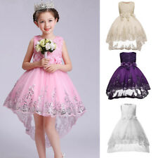 Flower Girl Dress Kids Pageant Party Wedding Bridesmaid Gown Formal Tutu Dresses