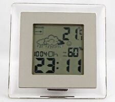 New! Translucent Frame Weather Station LCD Display Table Clock-779-202