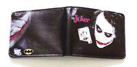 The Joker Wallet purse Bifold Credit card id window BatMan Arkham Knight Cartoon