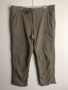 REI Co-op Mens Convertible Pants Size 40x28 Khaki Belt