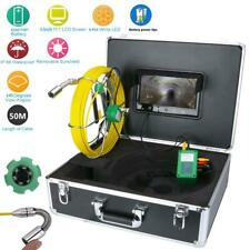 """50M Drain Pipe Sewer Inspection Video System Waterproof 9""""LCD 1000 TVL Camera"""
