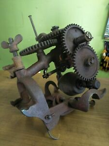 Antique heavy Cast Iron Rotary Tools Sharpener International made in Australia