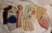 Vintage Lot of 1962 Tressy doll 1964 Simplicity Pattern 5731 & Handmade Clothes
