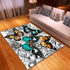 Butterfly Small Large Long Floor Carpet Area Rugs Various Size Soft Cute Rug