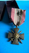 Médaille Croix de Guerre 1939 avec 1 Etoile Grade Citation et Photo Soldat