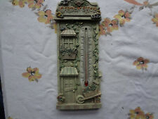 Vintage Spoontiques Garden Shop Thermometer Works!