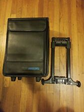 Philips Rolling Leather-Style Case Removable Wheels Salesperson's Unused-Locks