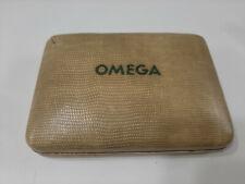 Omega scatola astuccio per orologi vintage marrone anni 50 watch box