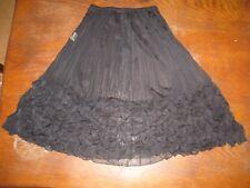 Formul- Jupe plissée et gaufrée entièrement transparente- noire- M