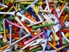 """1000 Tees madera 2 1/8"""" (5,4 cm) multicolor Tees de Dura palitos golf Golftees"""