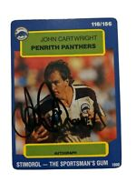 1990 Stimorol John Cartwright (Penrith Panthers) Signed NRL Rugby League card