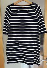 BODEN dunkelblau gestreifte Breton Tunika Kleid Größe 38-40 UK 12 WL892