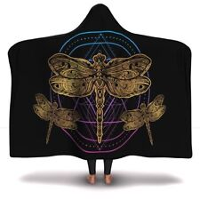 Dragonfly Hooded Blanket For Children And Adults - Dragonfly Lover Blanket