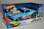 Hot Wheels Radio Control RC Blue Car Hot Rod Racer 27 MHz Lights Sounds 3+ NEW