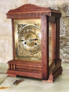 RARE Antique Germany JUNGHANS Striking Vienna  Clock,Walnut Case & Pendulum