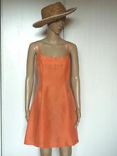 Pequeña Vestido Seda Naranja Coral Talla 36 MUY BUEN ESTADO