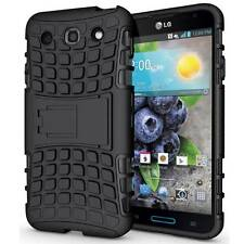 BLACK GRENADE GRIP RUGGED BOX HARD CASE COVER STAND FOR LG OPTIMUS G PRO E980