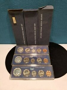 Lot of 3 1966 United States Special Mint Sets