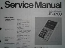 PANASONIC JE-170U electronic calculator Service manual wiring parts diagram