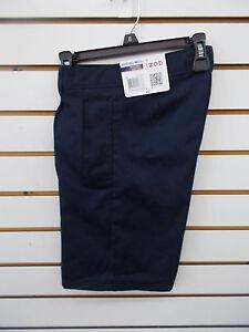 Boys IZOD $30 Navy or Khaki Uniform/Casual Pl Ft Adj. Waist Shorts Sizes 12 - 18