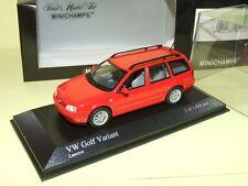 VW GOLF VARIANT IV Rouge 1997 MINICHAMPS