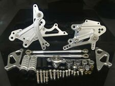 Rearsets Rear Set Foot Rest Peg Silver Fit 2007 2008 2009 2010 HONDA CBR 600 RR