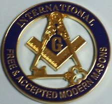 Freemason International Free & Accepted Modern Masons Car Emblem