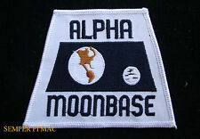 ALPHA MOON BASE SPACE HAT PATCH NASA TV SHOW ASTRONAUT APOLLO CAPSULE ROCKET