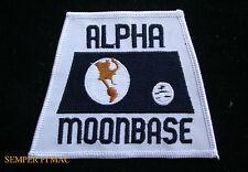 ALPHA MOON BASE SPACE HAT PATCH NASA TV SHOW ASTRONAUT APOLLO CAPSULE ROCKET