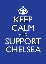 """Father's Day Card A5 """"Keep Calm and Support Chelsea""""  Dad Grandad Football"""