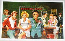 BURKINA FASO 1995 Block 144 S/S 933 Elvis Presley Marily Monroe James Dean MNH