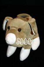 "Puli Int'l DOG 8"" Khaki Green Plush Soft Tony Toy White Feet Nose Stuffed Animal"