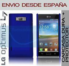 CARCASA FUNDA DURA AZUL + PROTECTOR DE PANTALLA LG OPTIMUS L7 P700 EN ESPAÑA