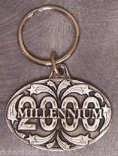 Pewter Key Ring novelty Millenium 2000 NEW
