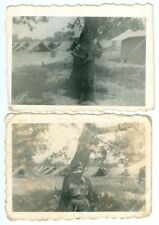 2 Canadian Soldier photos, WWII.  Original Photo