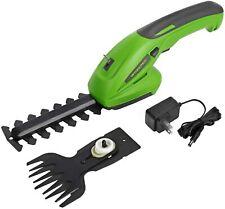 Cordless Grass Hedge Trimmer Bush Shrub Cutter Handheld Lightweight Garden Tools