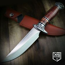 "12"" COMBAT Hunt-Down Fixed Blade BOWIE Knife w/ WOOD Handle Hunting SURVIVAL"