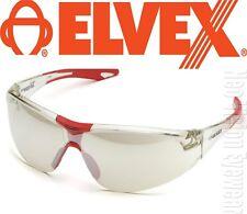 Elvex Avion Indoor Outdoor Clear Mirror Lens Safety Glasses Sunlgasses Red Z87+